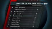 Отличниците в последния старт за сезона във Ф1