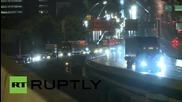 USA: Floods swallow cars in Houston floods