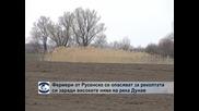 Фермери от Русенско се опасяват за реколтата си заради високите нива на река Дунав