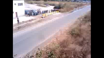 Рали Бургас 23.09.2012 Последната група. Изглед от моста.