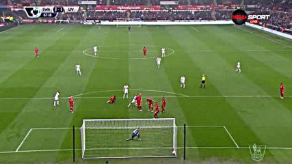 Суонси отново си върна двата гола аванс срещу Ливърпул