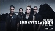 Papa Roach - Never Have To Say Goodbye (превод)