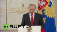 Russia: Putin hosts Patriarch Kirill at Kremlin for repose of St. Vladimir