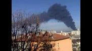 Облак от дим над Шумен! Пожар в Брадърс деликатес
