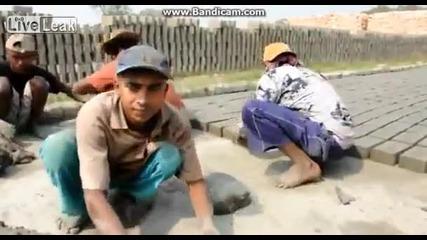 Как се правят тухли