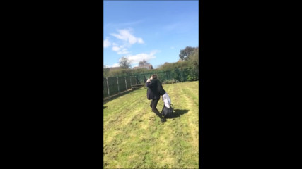 Girl Gets Tossed and Faceplants onto Grass