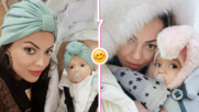 Като две капки вода: Славея Сиракова и малката Емили пръскат чар с нова снимка