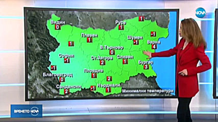 Прогноза за времето (29.01.2020 - централна емисия)