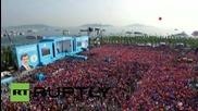 Огромен митинг в Истанбул в подкрепа на турския министър-председател