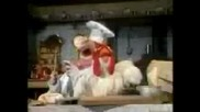 The Muppets Show - Swedish Chef Making Chicken kak se pravqt qica