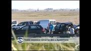 Тежка верижна катастрофа в Аржентина, двама души загинаха и 30 са ранени