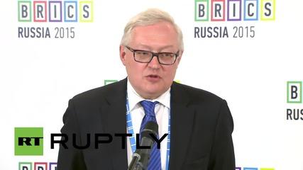 "Russia: BRICS will create ""more democratic system"" - Deputy FM Sergei Ryabkov"