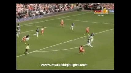 Ливърпул - Ман. Юнайтед 2:0 /всички голове/25.10.09