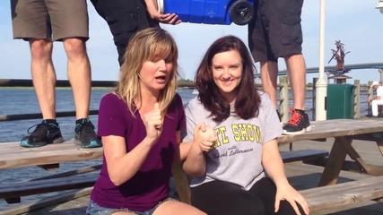 Jennifer Nettles and Brandy Clark Als Ice Bucket Challenge