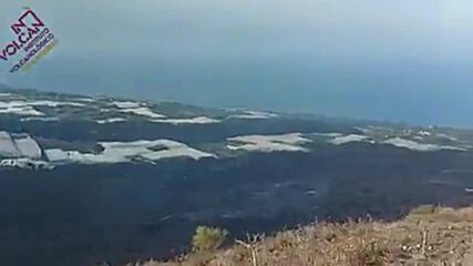 Spain: Lava from La Palma volcano destroys new urban area