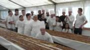 Belgium: World's biggest chocolate eclair made in Verviers