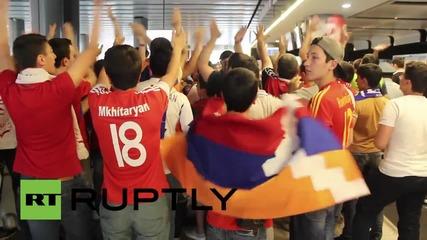 Роналдо пристигна в Ереван за Евро 2016 квалификацията