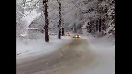 Audi 90 Quattro in Snow