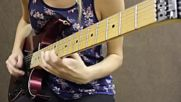 ♪ 2 Female Guitarists Shred Off Lauren Lace Vs Tina S ♪