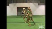 Секси Момичета Играят Футбол