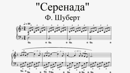 """F. Schubert - """"Serenade"""" (piano sheet music for beginners)"""