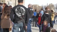 USA: Armed protesters rally for right to carry guns in Idaho cities without license