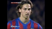 Барселона - Еспаньол 1:0 Гол На Златан Ибрахимович