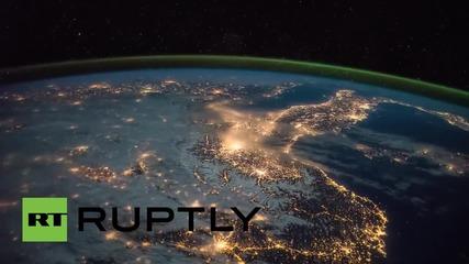 Спяща Европа - кадри от космоса