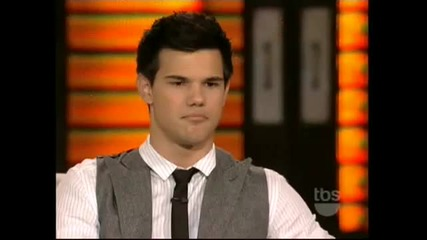 Taylor Lautner New Moon Interview (live On Lopez Tonight) (part 1)