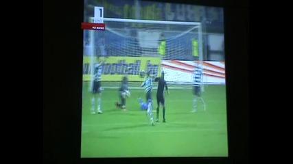 Футболист на Черно море събаря съдията!!!
