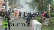 Италия: Полицията разпръсква анти-експо демонстрантите с водни оръдия, Милано