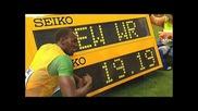 Болт с световен рекорд. 19.19 на 200м.