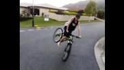баланс на предна жесток е :) dirt jump bike