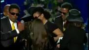Погребението на Майкъл Джексън..думите на дъщеричката му