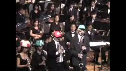 Super Mario Brothers Theme Clarinet Quartet