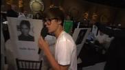 Justin Bieber на наградите Златен глобус [ репетицията ]
