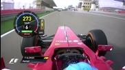 F1 Гран при на Бахрейн 2013 - битката на Alonso с Perez и последните обиколки от състезанието [hd]