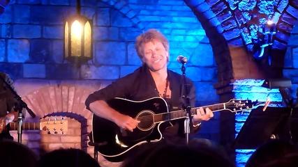 Jon Bon Jovi-the Fighter- New song- live Napa San Francisco Aug 28 2012