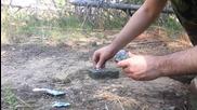 Палене на огън с калиев перманганат и захар