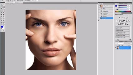 Смяна на цвета на очите с Photoshop