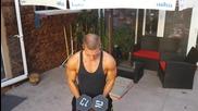 Четвърто упражнение за рамо, последна напомпваща серия !!!