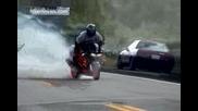 Екстремни мотористи ! Cbr900 - Burnout