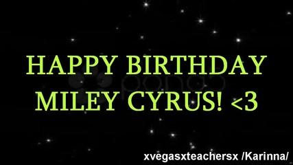 Happy Birthday Miley Cyrus! • Collab