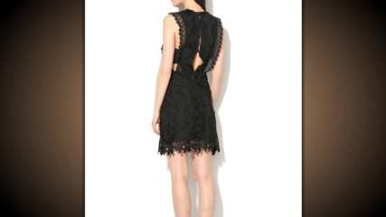 Glamorous Черна дантелена рокля без ръкави
