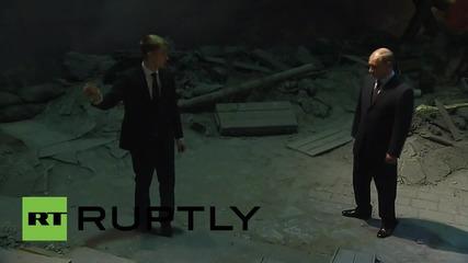 Русия: Путин посещава 3D възстановката на битката за Берлин