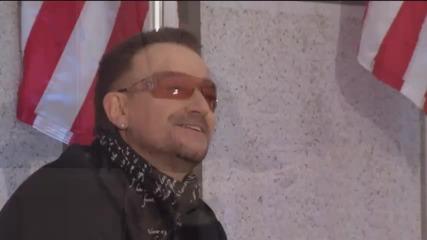 U2 изпълняват Раму,раму пред президента Обама.
