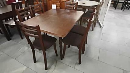 www.mebelrum.com Българска изработка маса за трапезария с шест стола