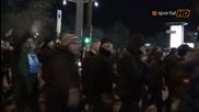 """Италианските фенове скандират """" Левски """" в София"""