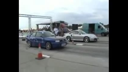 Audi s2 - - - 5.2 vs Porshe 4.6 2 turbo