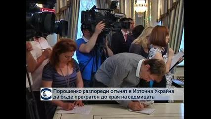 Порошенко разпореди огънят в Източна Украйна да се прекрати до края на седмицата